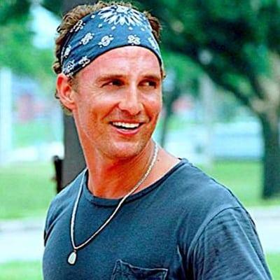 Green Bandana on Matthew McConaughey