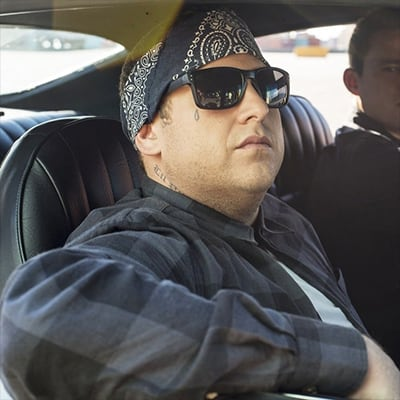 Get your cool on with a black bandana like Jonah Hill in 22 Jump Street.