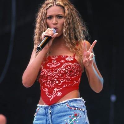 Run the world in a halter top bandana like Beyonce.