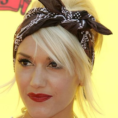 Look cute as a doll (and nothing like a troll) when you put your Hair Up in a bandana like Gwen Stefani.