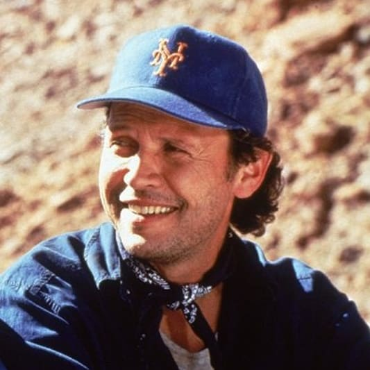 Keep a blue bandana handy in case you find yourself in a Wild West situation like Billy Crystal.
