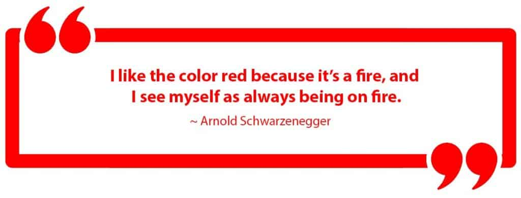 I like the color red because it's a fire, and i see myself as always being on fire.